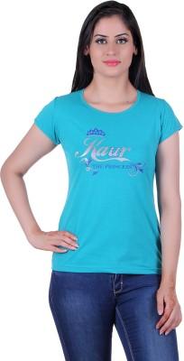 Punjabi Heritage Solid Women,s Round Neck T-Shirt