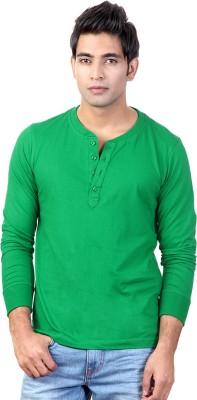 Top Notch Solid Men's Henley Green T-Shirt