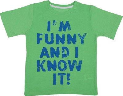 Next Steps Printed Boy's Round Neck T-Shirt