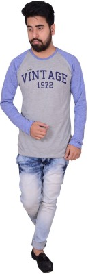 Zrestha Solid Men's Round Neck Grey T-Shirt