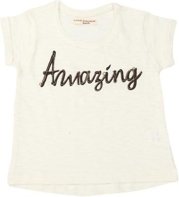 Raine And Jaine T- shirt For Girls(White)