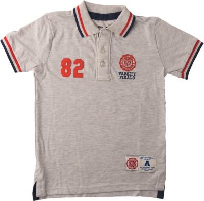 Lulu Solid Boy's Polo Neck T-Shirt