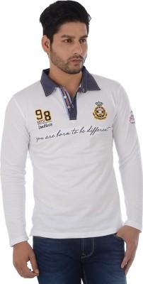 Lawman Solid Men's Polo White T-Shirt