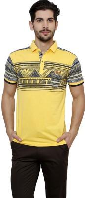 Freak,N by Cotton County Printed Men's Polo Yellow T-Shirt