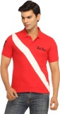 Rockhard Striped Men's Polo Neck Red T-S...