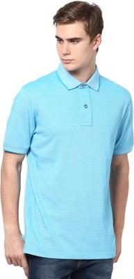 Mudo Solid Men's Mandarin Collar Light Green T-Shirt