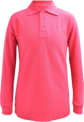 Blueriver Solid Boy's Polo Neck Red T-Shirt