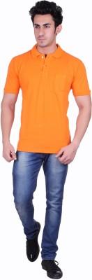SEABOARD Solid Men,s Polo Neck Orange T-Shirt