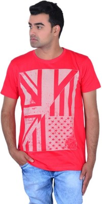 IPG Printed Men's Round Neck Red T-Shirt