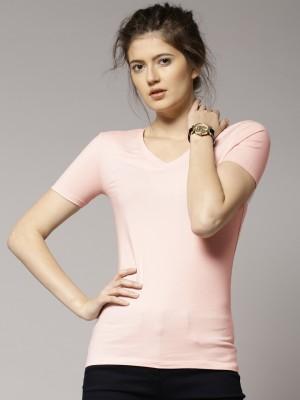 Marks & Spencer Solid Women's V-neck T-Shirt