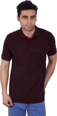 Studio Nexx Solid Men's Polo Brown T-Shirt