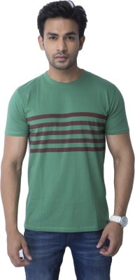 Cult Fiction Printed Men's Round Neck Green T-Shirt