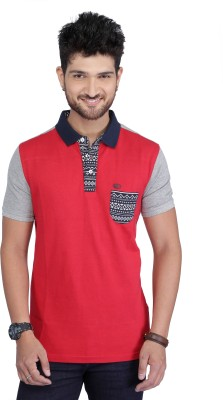 Nostrum Jeans Solid Men's Polo Neck Red, Grey, Dark Blue T-Shirt