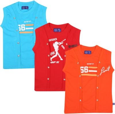 SPN Garments Printed Girl,s Round Neck Blue, Red, Orange T-Shirt