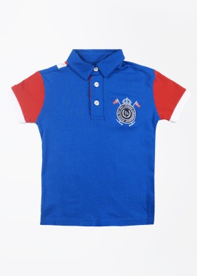 Status Quo Cubs Solid Boy's Polo Blue T-Shirt