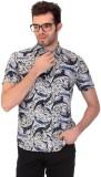 Saiints Printed Men's V-neck Grey T-Shir...