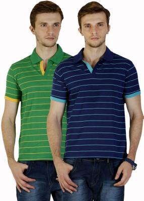 Duke Stardust Striped Men's Polo Neck Multicolor T-Shirt