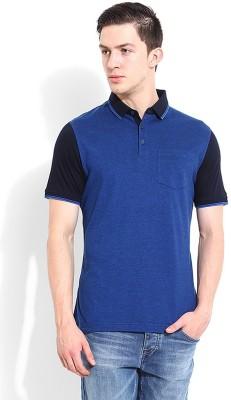 Blackberrys Printed Men's Polo Dark Blue T-Shirt