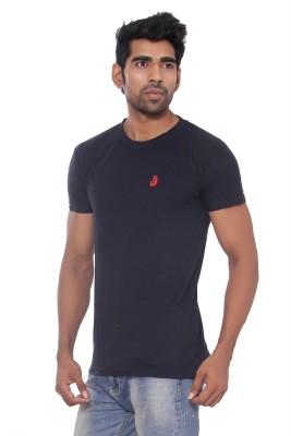 Pezzava Self Design Men's Round Neck Reversible Blue, Red T-Shirt