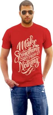 Monzter Popcornz Graphic Print Men's Round Neck Red T-Shirt