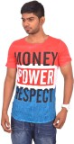 Rogue Printed Men's Round Neck Red T-Shi...
