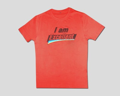 Guddi Creation Graphic Print Men's Round Neck Red T-Shirt