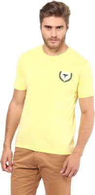 FUNK Printed Men's Round Neck Yellow T-Shirt