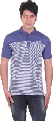 Montreal Striped Men,s Polo Blue T-Shirt