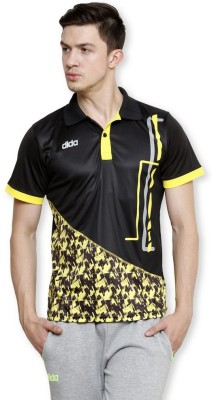 Dida Sportswear Printed Men's Polo Black T-Shirt