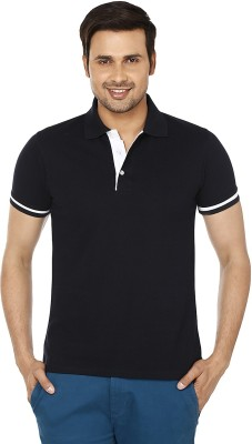 EPG Solid Men's Polo Black T-Shirt