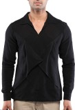 Sandeep Mahajan Solid Men's V-neck Black...