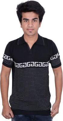 Being Dessi Solid Men's Flap Collar Neck T-Shirt