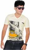 A1 Tees Printed Men's Round Neck White T...