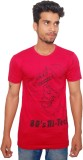 RC Fashion Printed Men's Round Neck Red ...