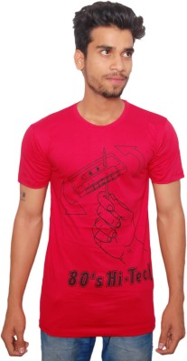 RC FASHION Printed Men's Round Neck Red T-Shirt