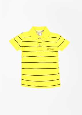 Status Quo Cubs Striped Boy's Polo Yellow T-Shirt