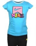 Nike Kids Girls Printed Cotton (Blue)