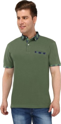 Nick & Jess Solid Men's Polo Green T-Shirt