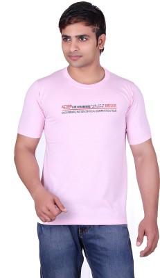 Martin Smith Printed Men's Round Neck Pink T-Shirt