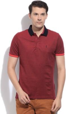 Arrow Newyork Solid Men's Polo Maroon T-Shirt