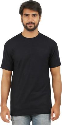 curviva Striped Men's Round Neck Dark Blue T-Shirt