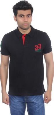 Studio Nexx Solid Men's Polo Black T-Shirt