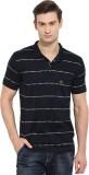 Duke Striped Men's Polo Neck Blue T-Shir...
