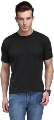 Scott International Solid Men's Round Neck Black T-Shirt
