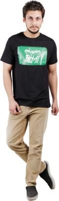 Pickle Moreon Printed Men's Round Neck Black, White T-Shirt