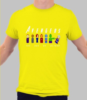 Merchbay Geometric Print Men's Round Neck T-Shirt