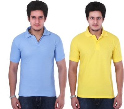 Ngt Solid Men's Polo Neck T-Shirt