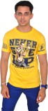 Altitude Printed Men's Round Neck Yellow...