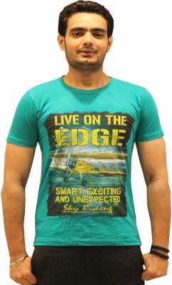 GOPAL EMPORIUM Printed Men's Round Neck Green T-Shirt
