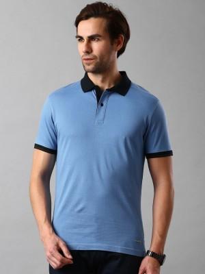 Invictus Solid Men's Polo Neck Blue T-Shirt